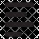 Left Align Text Icon