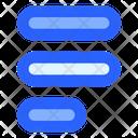 Alignment Left Document Icon