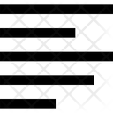Left Alignment Format Alignment Icon
