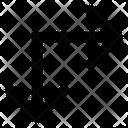 Arrow Left And Down Straight Arrow Icon