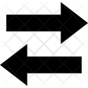 Arrow Small Left And Right Arrow Left Icon