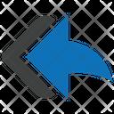 Left Arrow Back Backward Icon