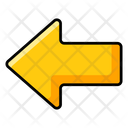 Left Arrow Arrowhead Direction Arrow Icon