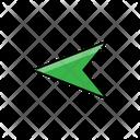 Left Arrow Arrow Green Arrow Icon
