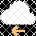 Left Arrow Cloud Technology Arrow Pointing Icon
