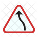 Left Bend Sign Icon