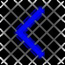 Left Chevron Arrow Left Icon