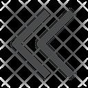 Left Chevrons Icon