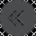Left Chevrons Circle Icon