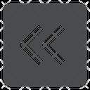 Left Chevrons Square Icon
