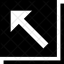 Arrow Square Top Left Mini Left Collapse Left Cross Arrow Icon