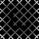 Left corner arrow Icon