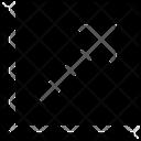 Arrow Square Top Right Mini Left Cross Collapse Left Cross Arrow Icon