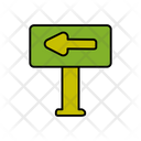 Left Direction Board Icon