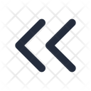 Left Double Chevron Icon