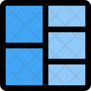 Left Double Row Grid Icon
