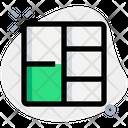 Left Double Row Grid Icon