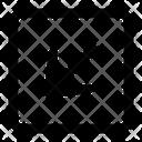 Left Down Arrow Direction Icon