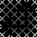 Arrow Left Down Straight Angle Icon