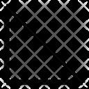 Left Down Triangle Media Icon