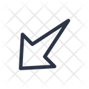 Left Down Arrow Icon