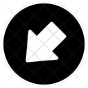 Left Down Arrow Directional Arrow Arrowhead Icon