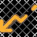 Graphic Down Arrows Icon