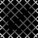 Diagonal Left Down Icon