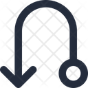 Left Down connector Icon
