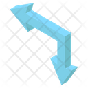 Left Downward Arrow Icon