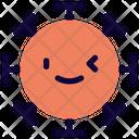 Left Eye Wink Coronavirus Emoji Coronavirus Icon