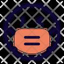 Left Eye Wink Emoji With Face Mask Emoji Icon