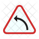 Left Hand Curve Icon
