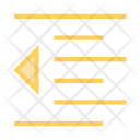 Left Alignment Text Icon