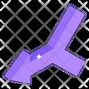 Left Merge Arrow Icon