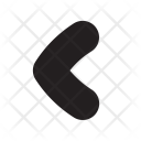 Navigate Back Direction Icon
