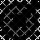 Arrow Circle Left Pointer Left Corner Icon