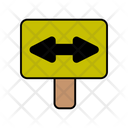 Left Right Traffic Sign Icon