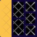 Left Sitemap Grid Icon