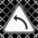 Left Hand Curve Icon