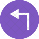 Left Turn Direction Icon