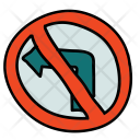 Left No Turn Icon