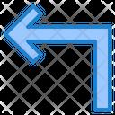 Left Turn Left Pointer Icon