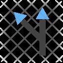 Left turn ahead Icon