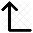 Left Up Arrow Icon