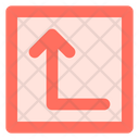 Left up arrow Icon