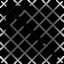 Call Made Arrow Leftup Ui Web App Icon