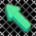 Left Up Pointer Arrow Icon