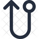 Left up connector Icon