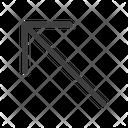 Left Upper Arrow Arrows Icon